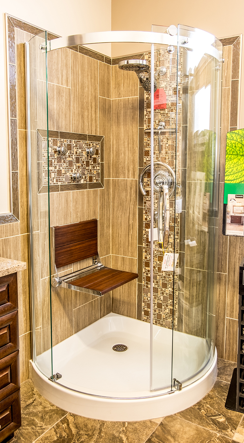 Shower with Folding Seat